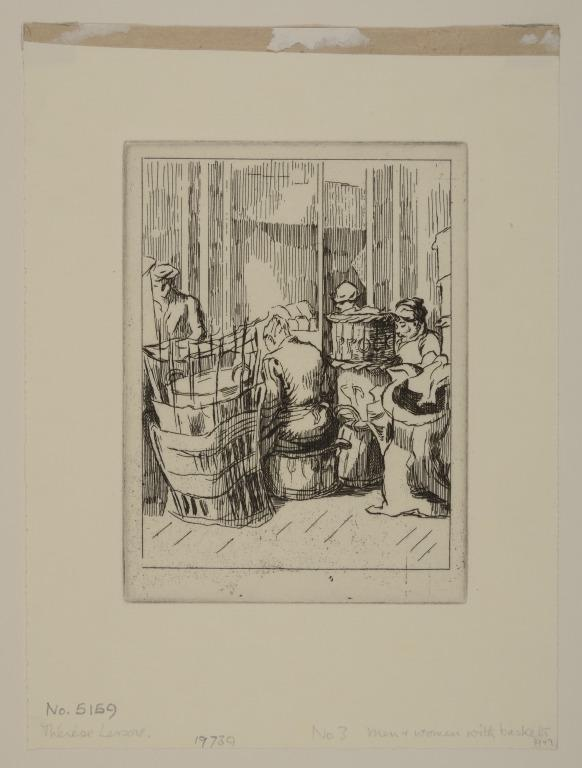 Men and Women with Baskets card