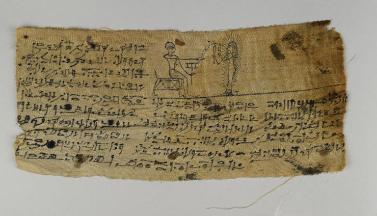 Inscribed Mummy Bandages card