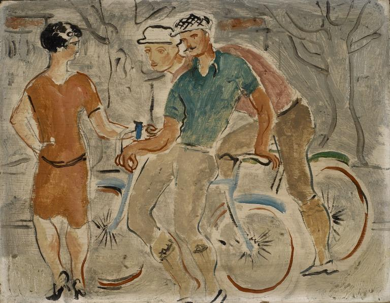 French Cyclists with a Girl card