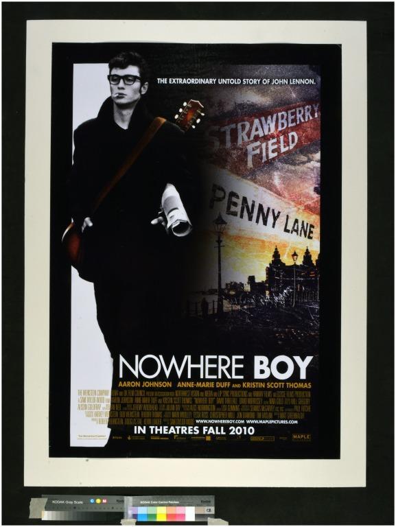 Nowhere Boy film poster card