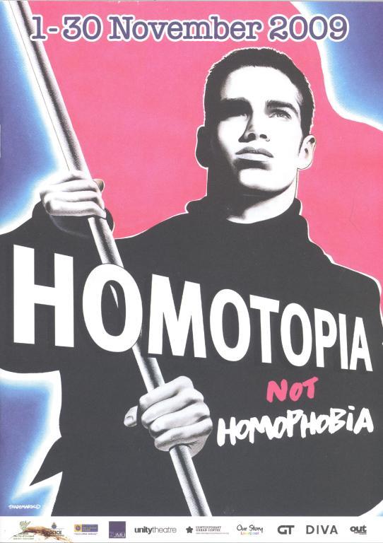 Programme,' Homotopia not Homophobia' card
