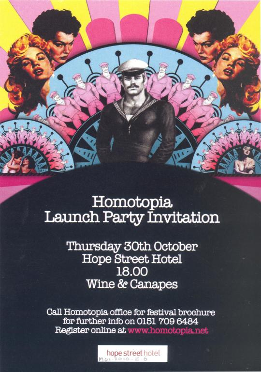 Invitation, 'Homotopia, From Liverpool With Love' card