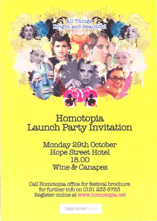 Invitation, 'Homotopia 2007' card