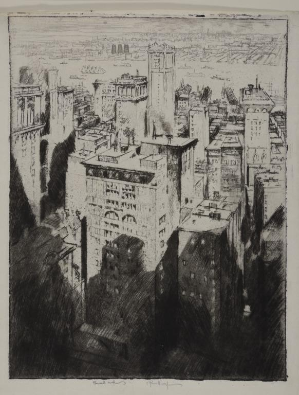 Among the Skyscrapers, New York card