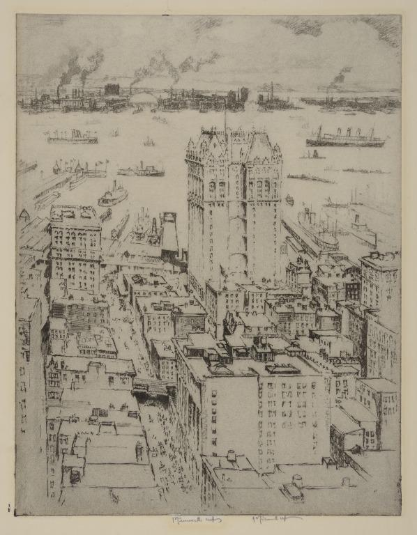 West Street Building from Singer Building, New York card