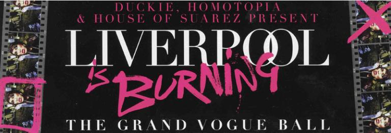 Flyer, 'Liverpool is Burning, The Grand Vogue Ball' card