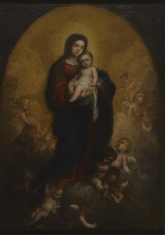 Oil study for the 'Virgin and Child in Glory' card