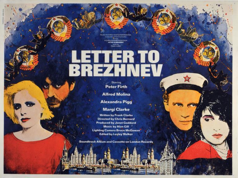 Film Poster, 'Letter to Brezhnev' card