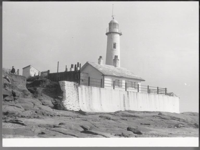 Photograph of Hale Head Lighthouse card