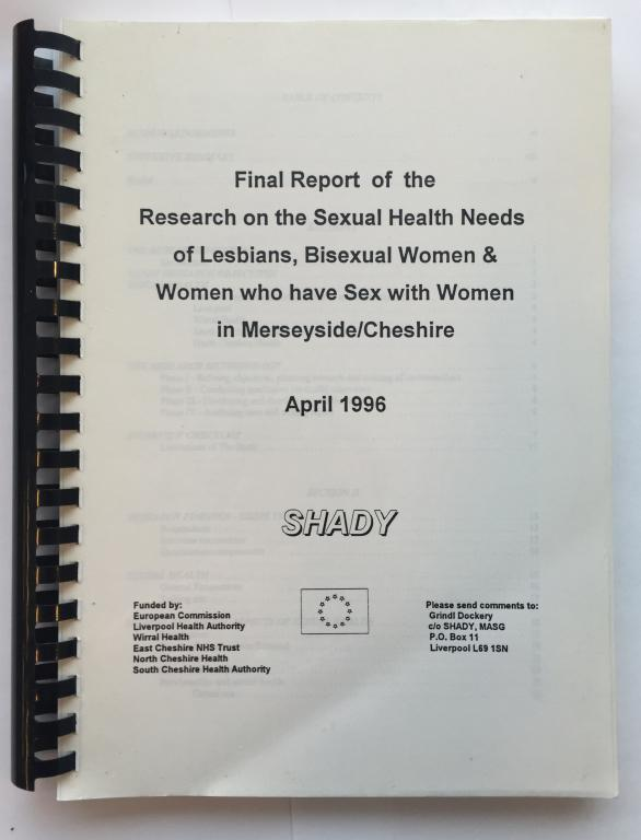 Final Report of the Research on the Sexual Health Needs of Lesbians, Bisexual Women & Women who have Sex with Women in Merseyside/Cheshire card
