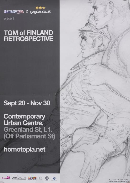 Poster, 'Tom of Finland Retrospective, Contemporary Urban Centre, 2008' card