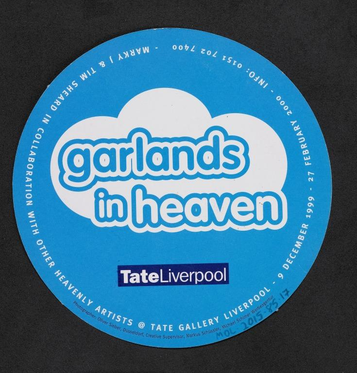 Flyer, 'Garlands in Heaven' card