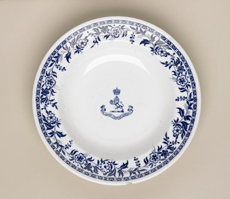 Lusitania/Mauretania soup plate card