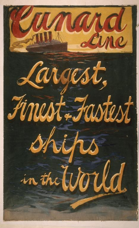 Cunard Line Largest, finest and fastest ships in the World card