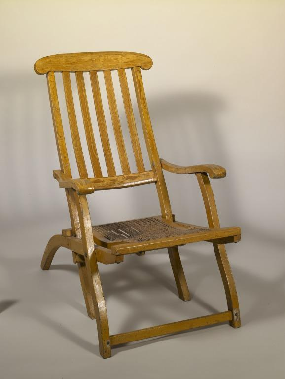 Deckchair from final voyage of RMS Lusitania card