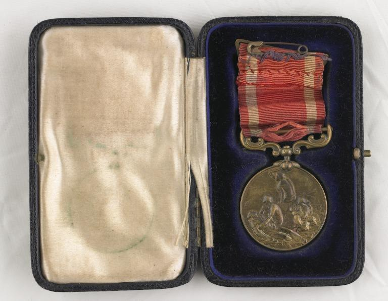 Bronze Board of Trade Medal for Saving Life at Sea, awarded to Seaman Joseph Parry card