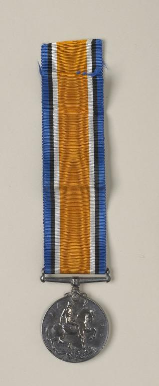 British War Medal, 1914-1918, awarded to Florence Irving card