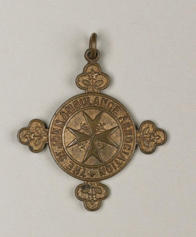 The St. John's Ambulance Association medal, awarded to Florence Irving card