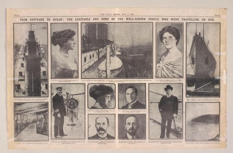 Copy of the Daily Mirror, 8th May 1915. card