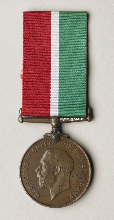 Mercantile Marine Medal awarded posthumously to Lusitania stewardess Isabel Morrow card