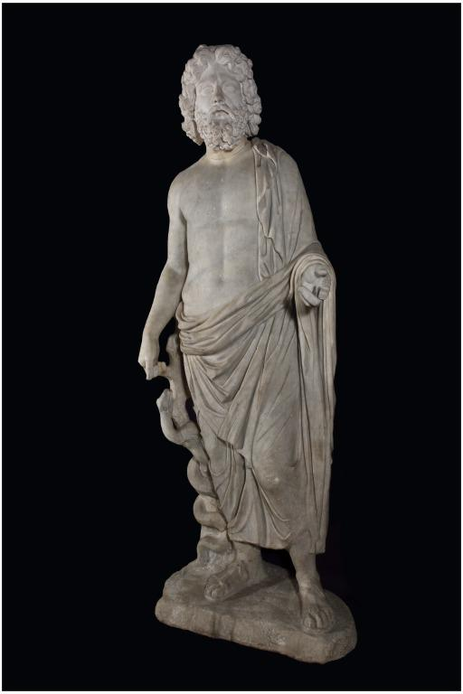 Statue of Asclepius card