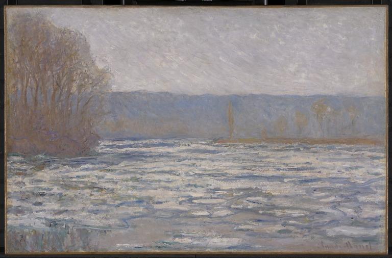 Break-up of the ice on the Seine, near Bennecourt card