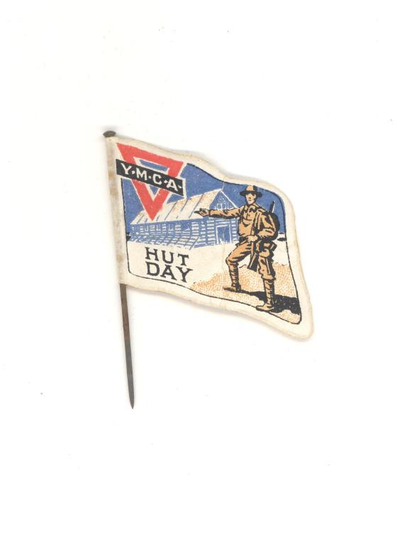 YMCA hut day flag card