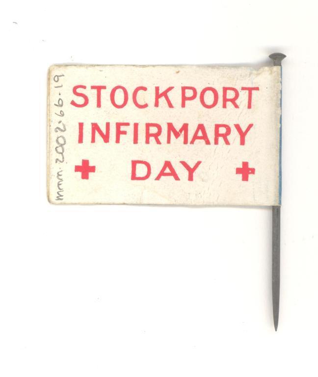 Stockport Infirmary flag card