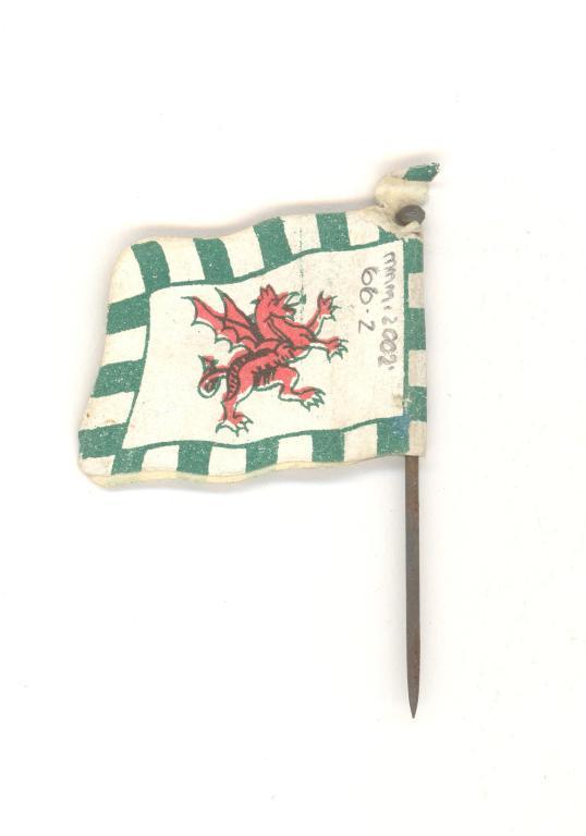 Red dragon flag card