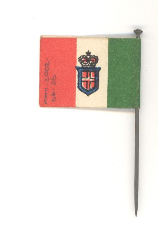 Red white and green flag card