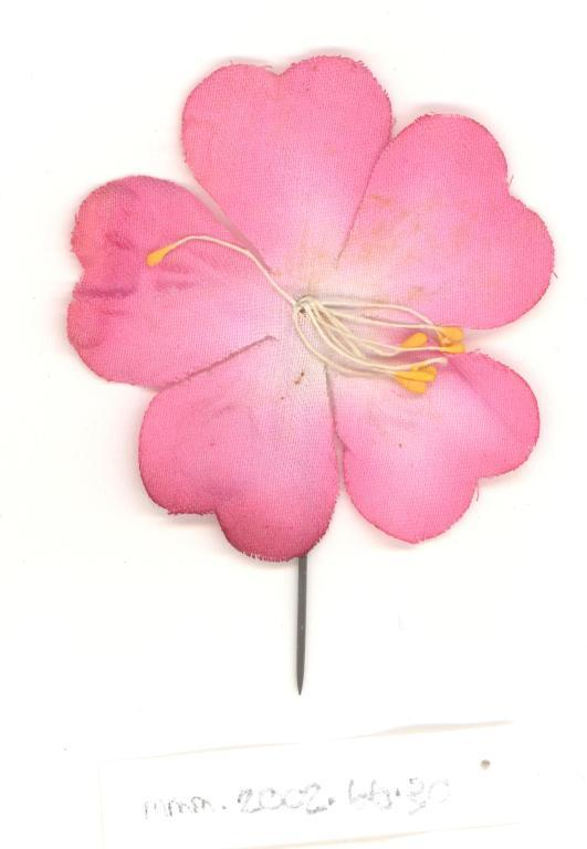 Pink Flower flag card