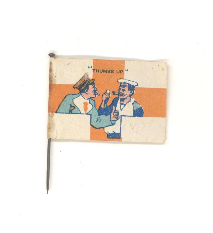 Wounded Soldiers and Sailors Fag Day Fund flag card