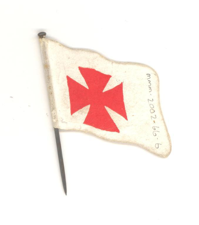 Red wedge cross flag card