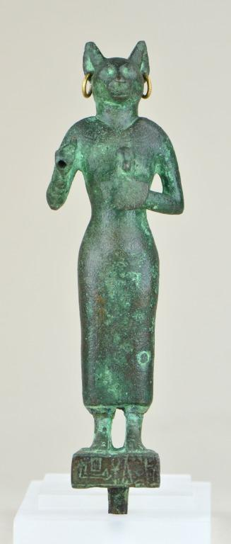 Statuette of Bastet card