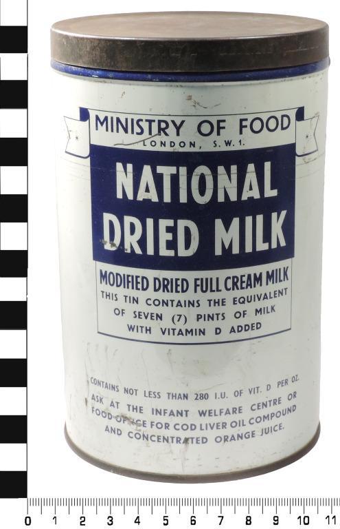 Dried milk tin card