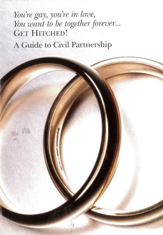 Booklet, 'A Guide to Civil Partnership' card