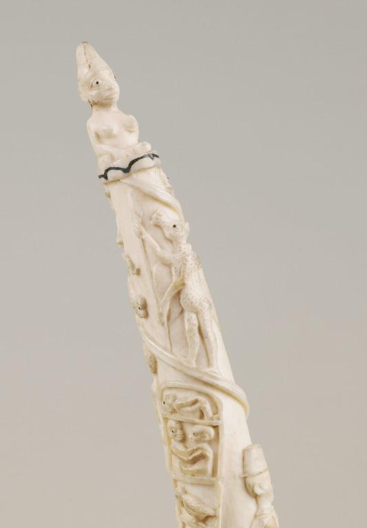 Carved ivory tusk card