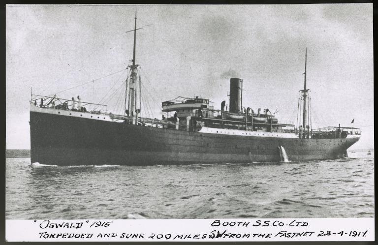 Photograph of Oswald, Booth Line card