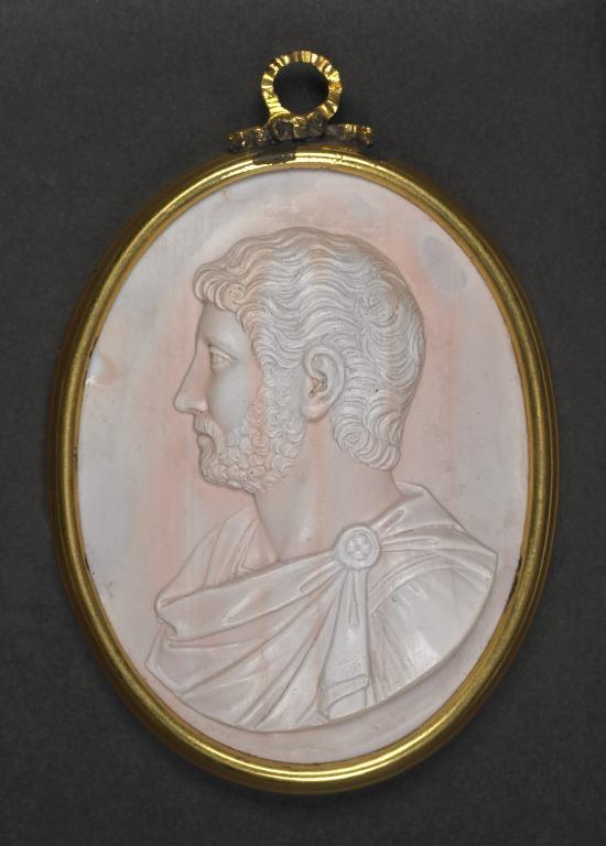 Glass Paste Medallion (Hadrian) card