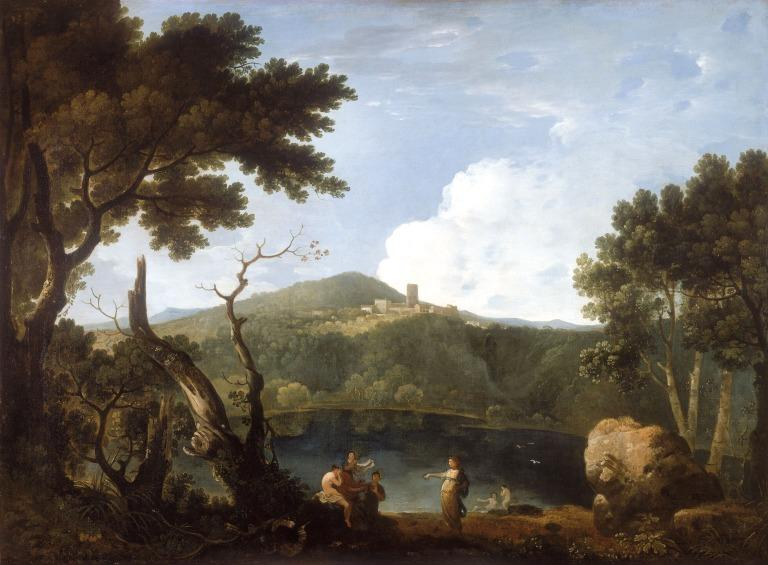 Landscape with Diana and Callisto card