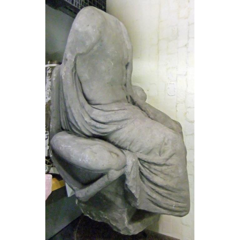 Statue of Seated Male card