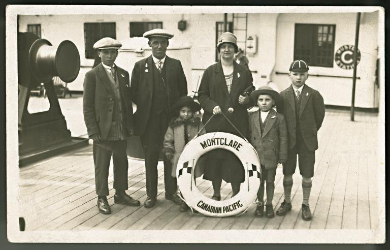 Items re emigration of Clark family from Liverpool to Canada, 1926. card