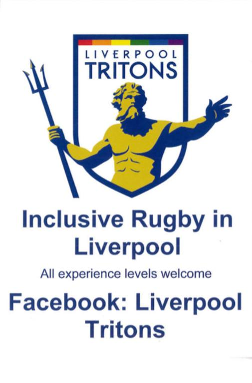 Flyer, 'Liverpool Tritons Inclusive Rugby in Liverpool' card