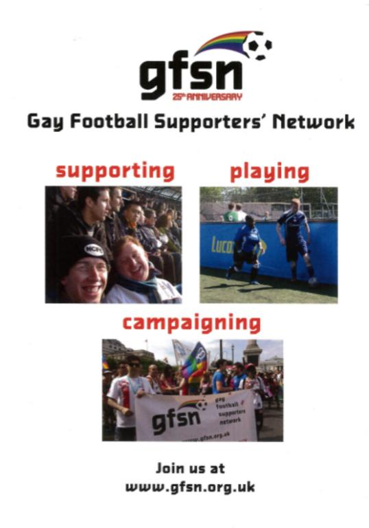 Flyer, 'Gay Football Supporters' Network' card