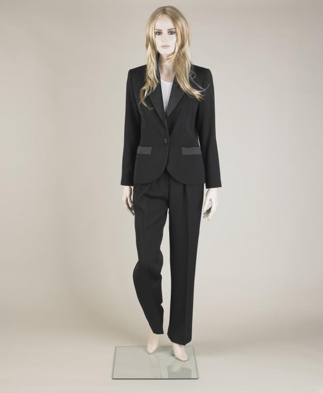 Evening trouser suit, Yves Saint Laurent, 1985 card