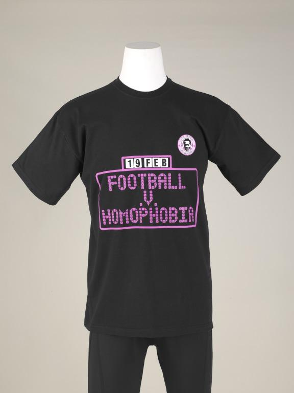 T-Shirt, 'Football v Homophobia' card