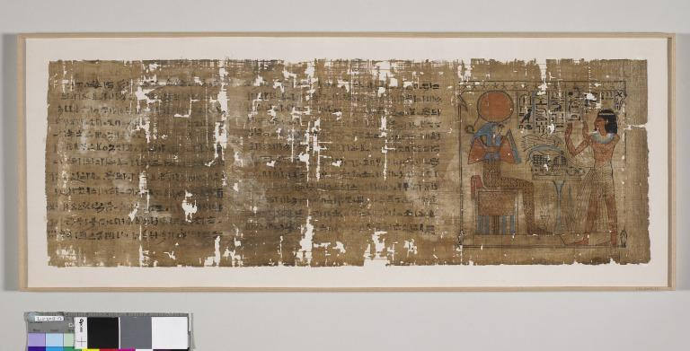 Book of the Dead inscribed for  Amenkhau card