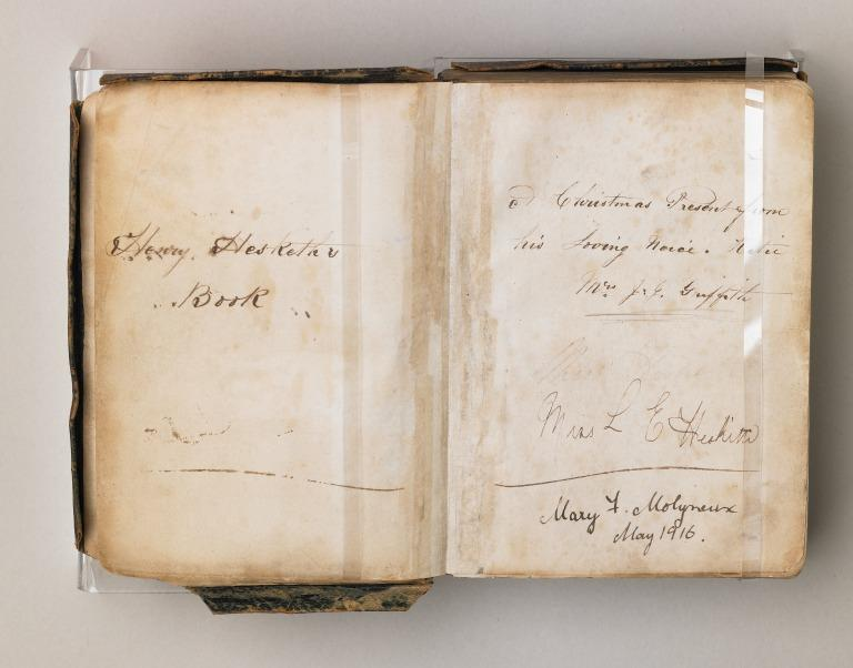 Bible of J.H. Hesketh (Junior Second Engineer on RMS Titanic) card