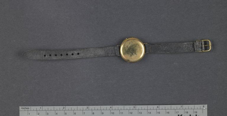Wrist watch from Titanic wreck site card