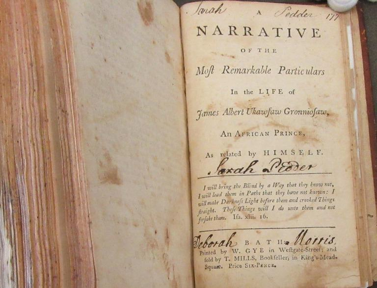 A Narrative of the Most Remarkable Particulars in the Life of James Albert Ukawsaw Gronniosaw card